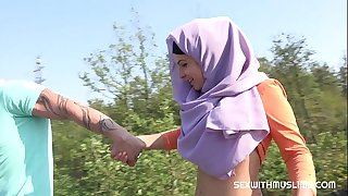 Czech teenager muslim girl Mila Fox and her nasty boyfriend were on a walk. Randy guy thinks only of sex. They enjoyed outdoor sex with a view of beautiful Prague.